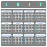 Cool demo 2017 calendar template. Stock vector Stock Illustration