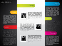 Cool design web template with light elements Stock Image