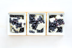Cool dessert with berries Royalty Free Stock Images