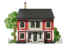 Cool detailed family  house Stock Photos