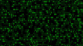 Cool Digital Binary Matrix Effect Stock Photos