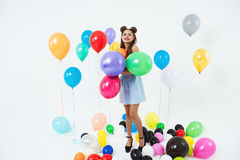 Cool disco party. Dico glam. Stylish summer hipster outfit Royalty Free Stock Images