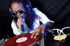 Cool DJ in action Stock Photography