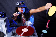 Cool DJ in action Stock Photos