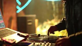 Cool DJ in bar stock footage