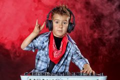 Cool dj boy Stock Images