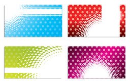 Cool dots and halftones business card set Stock Photo