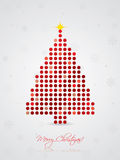 Cool dotted christmas card Royalty Free Stock Image