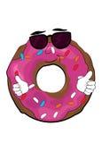 Cool doughnut cartoon. Vector illustration of cool doughnut cartoon Royalty Free Stock Photos