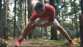 Free Cool-down Stretching After Running Royalty Free Stock Photo - 218010755