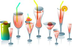 Cool drink cups Stock Photo