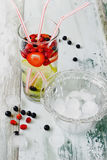 Cool drink with fresh berries Royalty Free Stock Photography