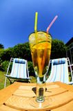 Cool drink on hot day Royalty Free Stock Photo