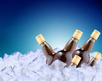 Cool drink in ice Royalty Free Stock Photography