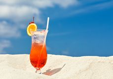 Cool drink in scorching desert Royalty Free Stock Photos