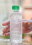 Cool drinking water in bottle Stock Images