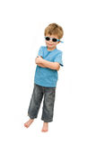 Cool Dude. Cool kid wearing sunglasses. Standing with his arms folded Stock Images
