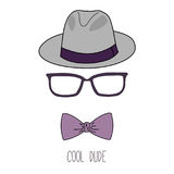 Cool dude fedora hat poster Stock Photos