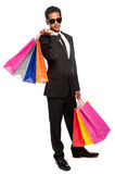 Cool Dude Young Man Shopping Stock Images