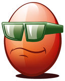 Cool egg. Illustration of cool easter egg with sunglasses Royalty Free Stock Photo