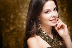 Cool elegant festive woman. Stock Photo