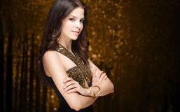 Cool elegant festive woman. Royalty Free Stock Photo