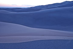 Cool Evening Colors at the Great Sand Dunes National Park Royalty Free Stock Images