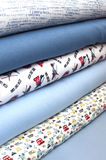Cool fabrics for little boys Royalty Free Stock Photography