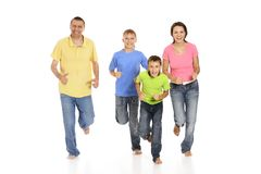 Cool family in bright Stock Images