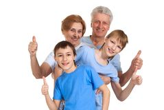 Cool family had a good time Royalty Free Stock Images