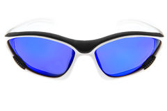 Cool,fashion and blue sport sunglasses Royalty Free Stock Images
