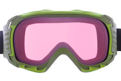 Cool ,fashion, and functional green ski goggles Stock Photography