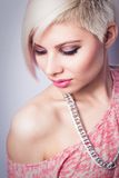 Cool Fashion Girl in Pink Royalty Free Stock Photography