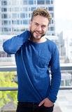 Cool fashion guy with beard smiling Stock Images