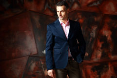 Cool fashion man standing Royalty Free Stock Photography
