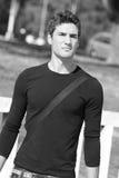 Cool fashion model plain t-shirt Royalty Free Stock Image