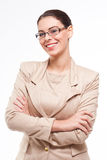 Cool fashionable young business woman. Stock Photos