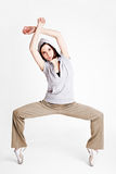 Cool female breakdancer Royalty Free Stock Images