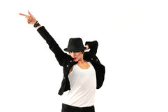 Cool female dancer isolated Royalty Free Stock Photography