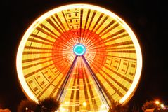 Cool ferris wheel. Amazing ferris wheel in the night in rimini Royalty Free Stock Photo