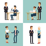Cool flat design corporate business team people Royalty Free Stock Photos