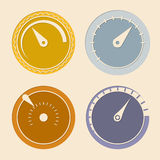Cool flat download speedometers Royalty Free Stock Images