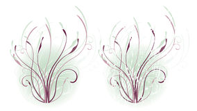 Cool Floral Motif Royalty Free Stock Photography