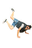 Cool freestyle dancer Royalty Free Stock Image