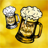 Cool fresh beer mag Royalty Free Stock Images