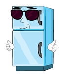 Cool fridge cartoon Royalty Free Stock Photo