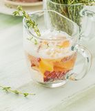 Cool fruity cocktails, soda water served on a Stock Images