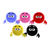 Cool and funny emoticon in all colors of the Royalty Free Stock Image