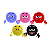 Cool and funny emoticon in all colors of the Royalty Free Stock Photos