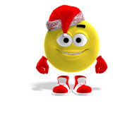 Cool and funny emoticon for christmas Stock Photo